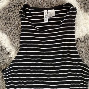 H&M striped mini dress